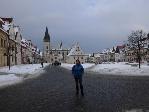 Bardejovské námestie s bazilikou sv. Egídia